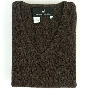 Peruvian Connection 100% Alpaca V-Neck Sweater